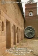 Lote PM2013-1, Peru, 2013, Moneda, Coin, Folder, 1 N Sol, Templo Inca Huaytará, Indigenous Theme - Perú