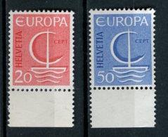 Europa CEPT Suisse 1966 Y&T N°776 à 777 - Michel N°843 à 844 *** - 1966