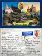 Bran Castle Dracula, Transylvania, Romania Postcard Posted 2009 Stamp - Romania