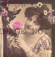 Woman Wizard Magician  HALLOWEEN  Ca 1905 Original Period Photo Postcard RPPC - Photographs