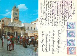 Zadar, Croatia Postcard Posted 1989 Stamp - Croatia