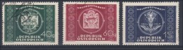 Österreich 1949: Upu- Weltpostverein ANK 955- 957 Gestempelt/ Used O - 1945-.... 2. Republik