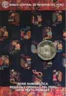 Lote PM2013-3, Peru, 2013, Moneda, Coin, Folder, 1 N Sol, Arte Textil Paracas, Indigenous Theme - Perú