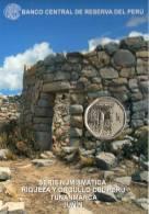 Lote PM2013-4, Peru, 2013, Moneda, Coin, Folder, 1 N Sol, Arqueológico De Tunanmarca, Indigenous Theme - Perú