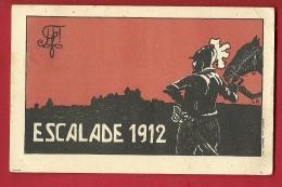 FIG-06  Litho, Escalade 1912. Sigle Des Vieux Zofingiens, Etudiants.Ecrite En 1913 Par Un étudiant De L'Université De NE - GE Geneva