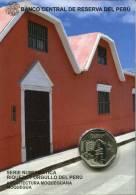 Lote PM2015-2, Peru, 2015, Moneda, Coin, Folder, 1 N Sol, Arquitectura Moqueguana, Architecture - Perú