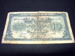 BELGIQUE 10 Francs 01/02/1943, Pick KM N°122, BELGIUM - [ 2] 1831-... : Koninkrijk België