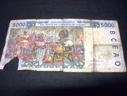 COTE D'IVOIRE 5000 Francs 1997,pick N°113A F,IVORY COAST - Côte D'Ivoire