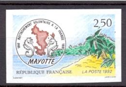 FRANCIA , AÑO 1991 , SIN DENTAR , YV. 2735 ** , 150º ANIVERSARIO DE LA ADHESION DE MAYOTTE A FRANCIA - Ongetand
