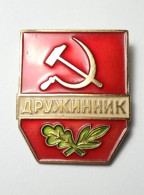 Soviet Union POLICE Assistant Militia USSR Insignia Badge MVD MIA Voluntary National Teams - Police