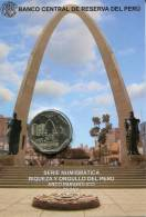 Lote PM2016-3, Peru, 2016, Moneda, Coin, Folder, 1 N Sol, Arco Parabolico - Perú