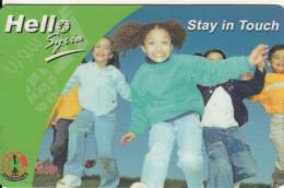 SYRIA - Children, Hello Syria By S.T.E. Prepaid Card 200 SP, Used - Syria