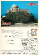 Church, Erice, TP Trapani, Italy Postcard Posted 1989 Stamp - Trapani