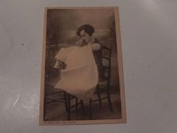 Carte Photo D' Une Femme Sans Bras  ( Ch Biard à Caen ) - Cartes Postales