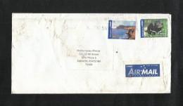 Australia Air Mail Postal Used Cover Australia To Pakistan Animal - Australie