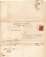 1903  LETTERA   INTESTATA  CROCE ROSSA CON ANNULLO  ROMA - Marcophilie