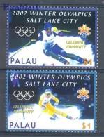 Palau 2002 Mi 2120-2121 MNH -  2002 Salt Lake City Skiing  ( ZS7 PAL2120-2121 )