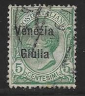 Italy,Occupation Austria, Venezia Giulia, Scott # N22 Used Italy Stamp Overprinted, 1918 - 8. WW I Occupation