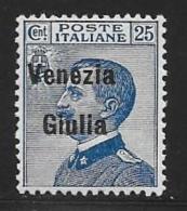 Italy,Occupation Austria, Venezia Giulia, Scott # N25 Mint Hinged Italy Stamp Overprinted, 1918 - 8. WW I Occupation