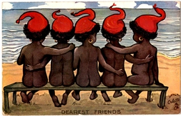 "ILLUSTRATEUR RAPHAEL TUCK  "" OILETTE ""  ENFANTS "" DEAREST FRIENDS "" 1906 - Tuck, Raphael"
