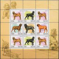 Russia, 2002, Mi. 971-75, Sc. 6694, SG 7087, Dogs, MNH - 1992-.... Federación