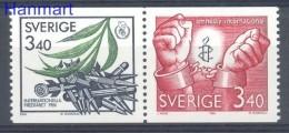 Sweden 1986 Mi 1407-1408 MNH -  Peace Weapons Others Crests / Heraldry / Symbols  ( ZE3 SWDpar1407-1408 )
