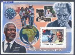 Comoros 2009 Mi Bl 468 MNH -  Peace Nobel Prize Red Cross Pigeons And Columbiformes Others  ( ZS4 COMbl468 )