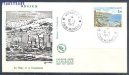 Monaco 1977 Mi 1255 FDC -  Water Landscapes  ( FDC ZE1 MNC1255 )