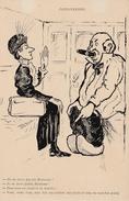 CP Paysanneries : Discussion Entre Une Femme Et Un Homme Dans Un Train - Humor