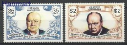 Grenada And Grenadines 1975 Mi 32-33 MNH -  Churchill  ( ZS2 GGR32-33 )