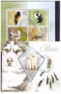 MADAGASKAR 2015 Dogs 1 4v MS+SS Used - Madagaskar (1960-...)