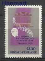 Finland 1970 Mi 670 MNH -  Lenin UNESCO  ( ZE3 FNL670 )