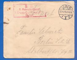 Deutschland; Brief 1916; Feldpost Stempel Guben Und Sonderstempel 3 Rekrutendepot 2 Ersatz-Batt. Gren. R.12 - Briefe U. Dokumente