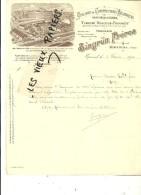 88 - Vosges - EPINAL - Facture SINGRÜN - Constructions Mécaniques - Fonderie – 1900 - REF 44 - 1900 – 1949