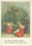 Frohe Weihnachten, Neujahr, Weihnachtsmann Musiziert, Künstler-Postkarte, Feiern & Feste - Navidad