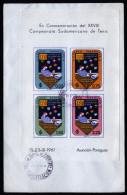 A4302) Paraguay Cover With Souvenir Sheet Tennis 1961 - Paraguay