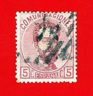 España. Spain. 1872 (o) Edifil 118. Amadeo I. 5 Centesimas. Rosa - 1872-73 Reino: Amadeo I