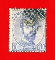 España. Spain. 1872 (o) Edifil 121. Amadeo I. 10 Centesimas. Ultramar - 1872-73 Reino: Amadeo I