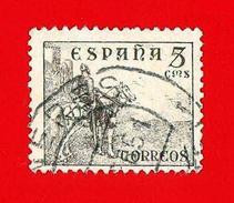 España. Spain. 1939 (o) Usados. Used. Edifil 816B. Cid Campeador. 5 Cts. Castaño - 1931-Hoy: 2ª República - ... Juan Carlos I