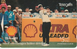 Télécarte NOUVELLE ZELANDE - Golf - Shell - Sport