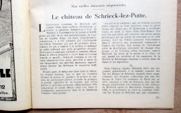 """Magazine Avec Articles """"Château De Schriek (Putte), Trois-Ponts, Tégeonville"""" 1933 - Vieux Papiers"""