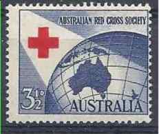 1954 AUSTRALIE 211*  Croix-rouge, Charnière - Mint Stamps
