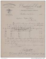 34 1088 PAULHAN Et CLERMONT L' HERAULT 1906 Vins J. GUIBAL Et E. COSTE Commissionnaire à Vin TIXIER - France