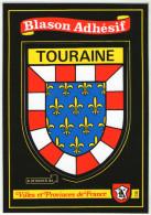 CPM   BLASON ADHESIF   VILLES ET PROVINCES DE FRANCE     TOURAINE - Other
