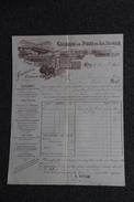 Facture  Ancienne Publicitaire, DIE, Ciments De Pont De La ROCHE, A.SAUVAN Successeurs. - 1800 – 1899