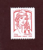 4779 De 2013 - Neuf **- Roulette Lettre Prioritaire 20g.-Marianne De Ciappa & Kawena, Numéro Noir Au Verso, Voir Scannes - France
