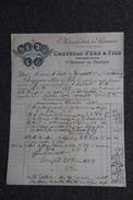 Facture Ancienne Publicitaire , ST BONNET LE CHATEAU - Manufacture De Serrurerie, CHEYSSAC Père Et Fils. - 1800 – 1899