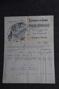 Facture Ancienne Publicitaire , CLERMOND FERRAND - Epicerie En Gros BORIE - ROUCHON. - 1800 – 1899