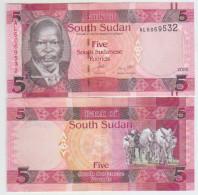 South Sudan 5 Pound 2015 Pick NEW UNC - Sudan