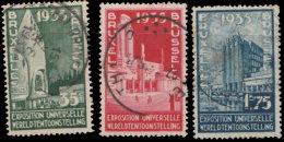 Belgique 1934. ~ YT 386/89 - Exposition Universelle De Bruxelles